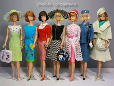 Short haired American Girl Barbies.