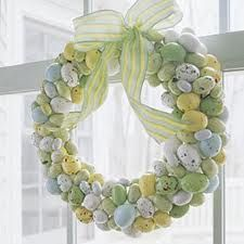 almond, easter candy, easter crafts, easter wreaths, easter eggs, candy decorations, spring crafts, egg wreath, easter ideas
