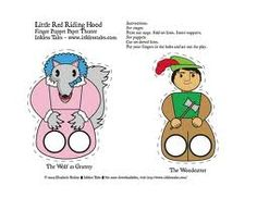 finger puppets little red riding hood - Google Search More