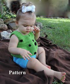 Adult Pebbles Flintstone Costume - Child and Adult