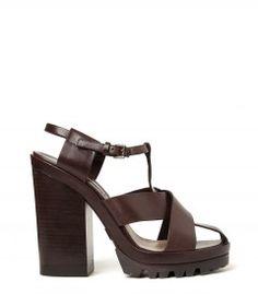 Michael Kors Brown Sandal - New ways to wear '70s style now: http://shop.harpersbazaar.com/trends/trending-now/
