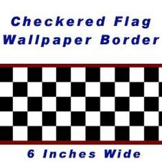 checkered flag wallpaper border uk