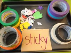 Making a sticky collage...