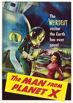 The Man From Planet X Vintage Sci-Fi Movie Posters - 1951