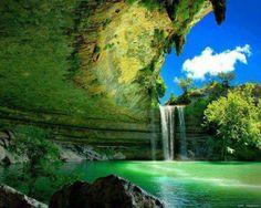 Allllways wanted to go here!!!! Hamilton Pool - Austin, Texas