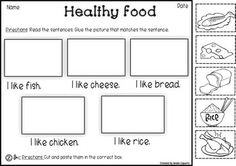 HEALTHY FOOD VOCABULARY PACK
