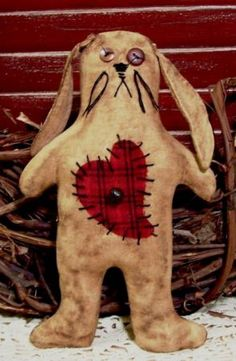Cute primitive bunny!