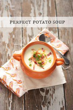 Perfect Potato Soup www.crumbsandchaos.net