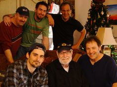 "Back row, Robert Arthur, Barry Senter, Greg Welsch,  Front Row, Brad Paisley, Hank Cochran,Wes Pryor during filming of ""Livin' For A Song"""