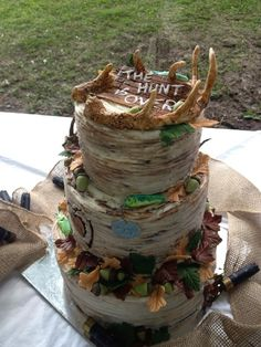 Groom's Cakes - Hunting and fishing theme Groom's cake