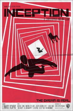 Inception by Chris Nolan film, minimalist movie posters, graphic, movi poster, saul bass, saulbass, the artist, poster designs, incept poster