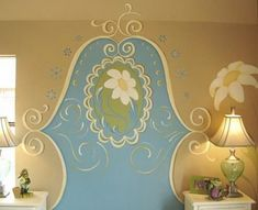 Paint a headboard on
