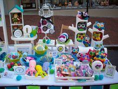 felt craft booth display