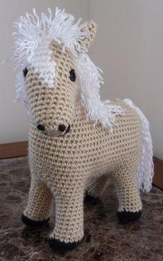 Pretty  Palomino  Handmade Crochet Plush Toy by CrochetFun4Kids, $35.00