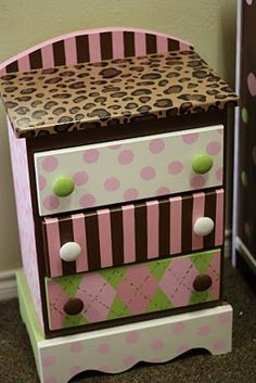 fun painted chest