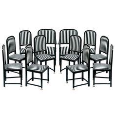 Gottfried (Bohumir) F. A. Czermák, 2 Armchairs, 10 Chairs, Brno, 1911   1stdibs.com