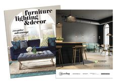 Check out our AD in Furniture, Lighting & Decor featuring the Kenmore pendant collection. #interior #design #lighting #decor #furniture #pendant #kenmore #industrial #cage #black #gold #restaurant #kitchen #bar #magazine #advertisement