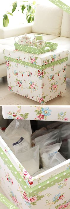 covered in greengate fabric
