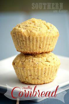 Low Fat Healthy Cornbread Muffins Recipe - Gluten Free, Vegan