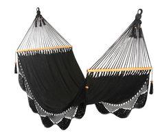 Fun, feminine hammocks via Haskell Harris @magpiebyhaskellharris.blogspot.com