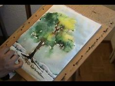 blue pansi, how to paint trees