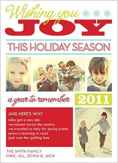 Christmas card....a fun alternative to a newsletter....great idea to do a New Year's Card for us slackers!  :)
