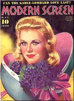 Earl Christy, Modern Screen Magazine, 1940s  GINGER ROGERS