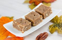 Recipe for Healthy Gluten-Free Diet: Maple Pecan Freezer Fudge    Using pecans, coconut cream and maple syrup.