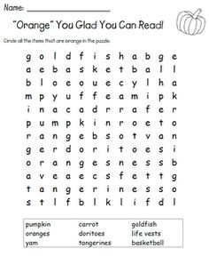 """First Grade Delight: """"Orange"""" You Glad You Can Read Day"""