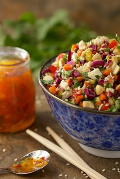 chopped salads, asian chopped salad, chicken salads, chop asian, salad dressings, asian chicken, light, chicken salad recipes, green onions
