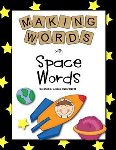 "Great guided small group activity for struggling third grade readers:  ""Making Words - Space Words""  $2.00"