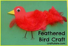 Feathered Bird Craft - Craftulate