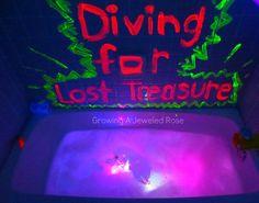 GLOWING Bath Treasure Dive- so magical and fun!