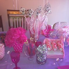 Ballerina birthday table decoration