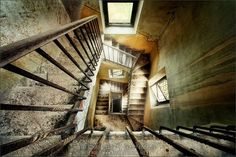 lights, stairway, urban decay, architecture interiors, interior architecture, urbandecay, sven fennema, staircas, photography