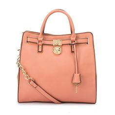 Michael Kors Hamilton Specchio Large Pink Totes Collection, the greatest discount, 70% off. #MKTimeless #NYFW fashion designer handbags ...Neeeeed this!
