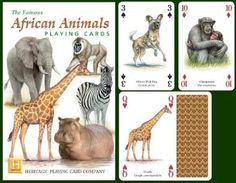 African Animals Playing Cards at theBIGzoo.com, an animal-themed store established in August 2000.