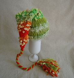READY to ship  Baby  Girl Boy Bright Elf Hat by AllForLittleOnes