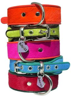 Colorful Cowhide Collars