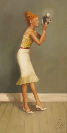 Janet Hill  Fabulous painting fine art prints  Love this girl -- love her shoes, love her hair, love her fabulousness