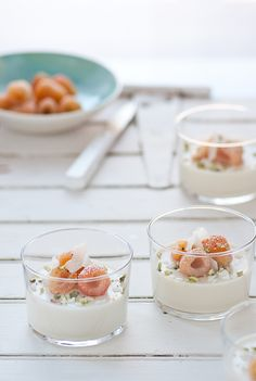 Russian Cream, golden raspberries, coconut & pistachios