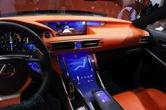 Lexus LF-CC touchscreen console