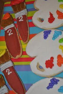 Art palette cookies!