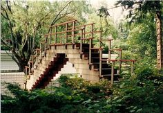 Bridge at the Alden B. Dow Home and Studio, designed by Alden B. Dow.