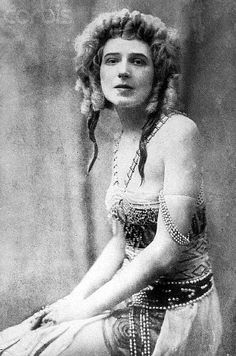 Ida Rubinstein was a Russian ballerina, actress, patron and Belle Époque figure. She was orphaned at an early age and had, by the standard of Russian ballet, little formal training. Tutored by Mikhail Fokine, she made her debut in 1908 with a performance of Oscar Wilde's Salomé.