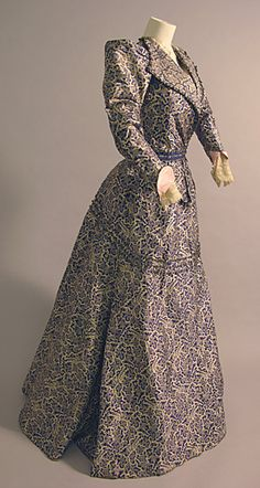 Dress 1898, British, Made of silk and lace