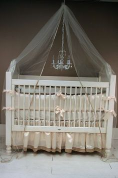 Ivory Latte Satin Crib Set