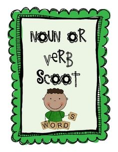 $1.00 - How much fun is the game of Scoot?! It's fast paced, exciting, and tons of fun for children. This Scoot game will surely engage the children, as they go from seat to seat identifying whether the words are nouns or verbs. It comes with directions, 3 grids (one for 18 students, one for 21 students, and one for 24 students) and 24 question cards.