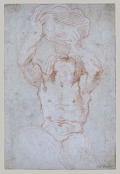 Gian Lorenzo Bernini: Study for a Triton (recto); Anatomical Studies (?) (verso) (1973.265) | Heilbrunn Timeline of Art History | The Metropolitan Museum of Art