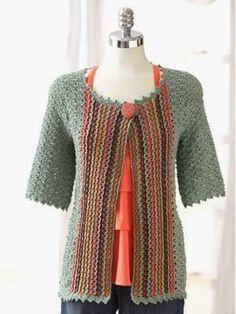 desain+crochet | Scarf-Tied Jacket